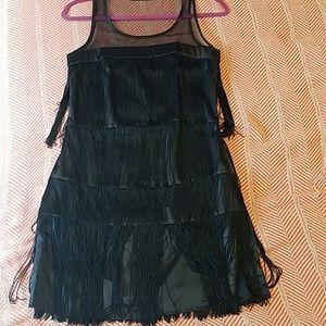 Mango fringe dress